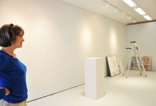 Deborah in the Main Gallery Space