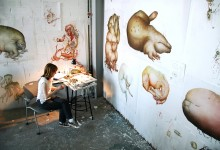 Ashley Williams in her studio 1