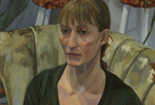 """By JM, Anki in a Green Sweater, 24x18"""", Oil on Canvas, 2015"""