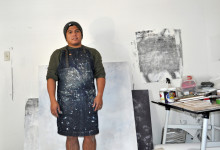 Matt Manalo in his studio