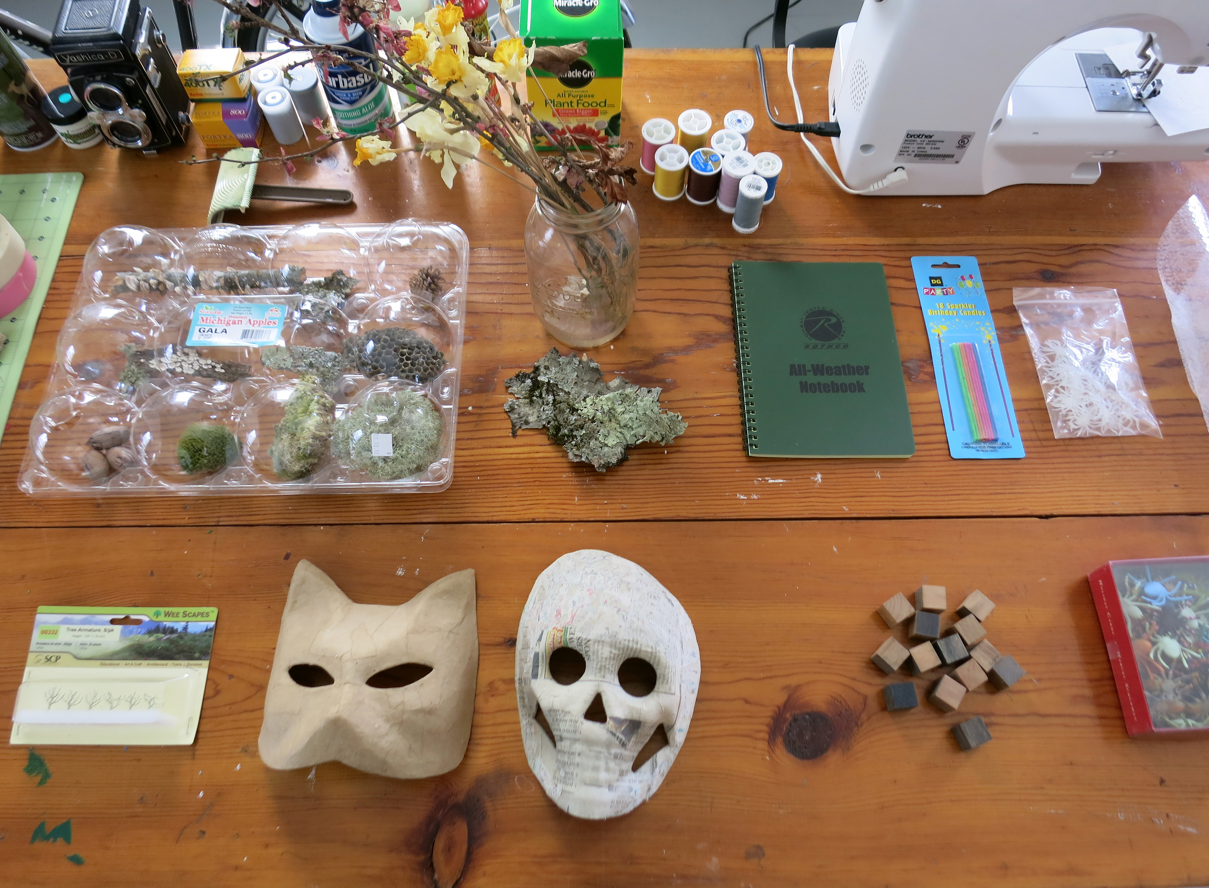 Collections and objects on my work table